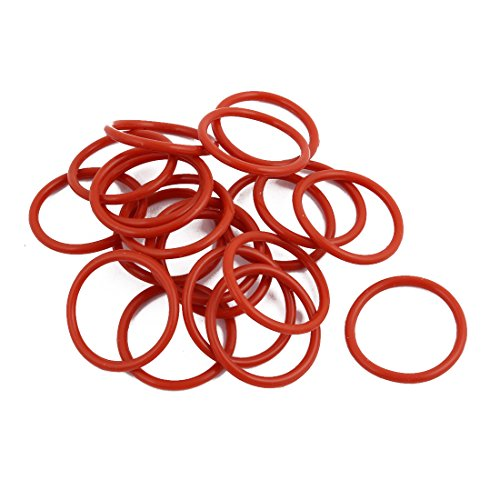 1.9 Mm Wall (uxcell 20Pcs Red Round Nitrile Butadiene Rubber NBR O-Ring 23mm OD 1.9mm Width)