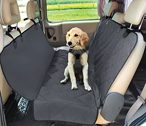 Water Resistant Car Protective Cover for Dogs with Pouch Nonslip Back Protector for Cars, SUVs Trucks