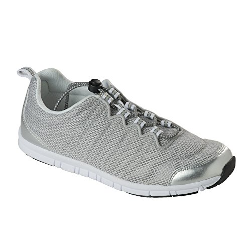 SCHOLL E PELLE DONNA DR SNEAKER TESSUTO Silver WINDSTEP dXqBPB