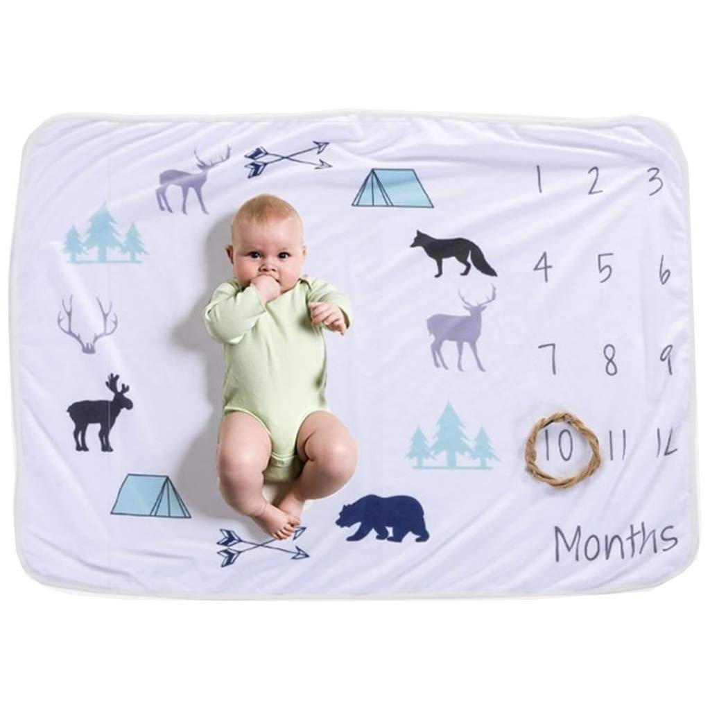 Boutique Lover Animal Print, Hunting Baby, Monthly Milestone Blanket