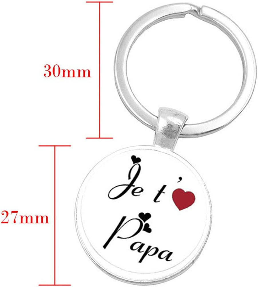 Dad Keychain Fathers Day Gift Father Key Chain Ring for Christmas Thanks giving Birthday