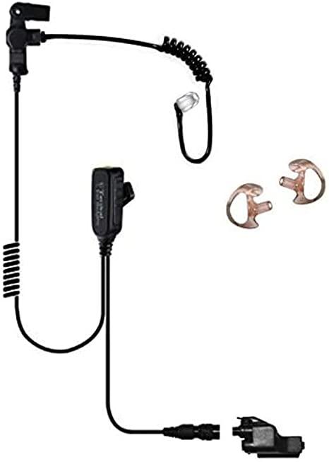 Law Enforcement Earpiece Headset Compatible with Motorola XTS5000 XTS3000 XTS2500 and XTS1500 Radios Sheepdog Quick Disconnect Police Lapel Mic