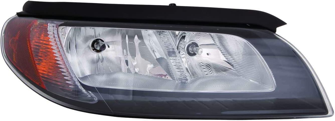 Depo 373-1116L-AS2 Headlight Assembly VOLVO S80 07 ASSEMBLY HALOGEN TYPE BLACK BEZEL DRIVER SIDE