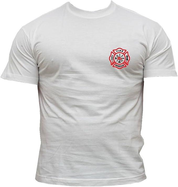 Bombero Camiseta Bomberos Rescate Equipo - algodón, blanco, 100 ...