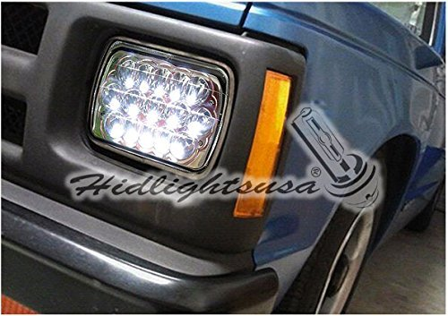 Avec Products 7x6 Luxx Series LED Conversion Headlights - Clear/Black (Right Hand Drive Conversion Kits For Jeeps)