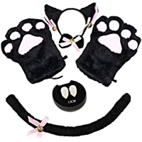 5-Piece Abida Cat Cosplay Costume Set