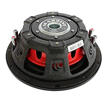 Thinnest Car Subwoofer with a Clean Deep Bass Sound Massive Audio UFO10 10 Inch Shallow Subwoofer High Powered 600 Watt Shallow Mount Subwoofer 2.5 inch Voice Coil and Dual 4 Ohm Sold Individually