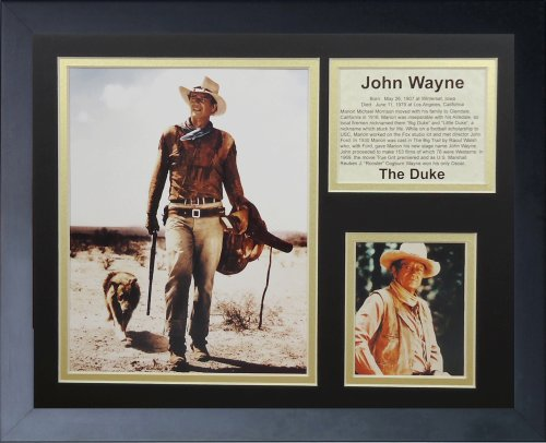 Legends Never Die John Wayne Framed Photo Collage, (John Wayne Framed)