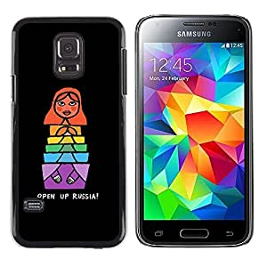 LECELL--Funda protectora / Cubierta / Piel For Samsung Galaxy S5 Mini, SM-G800, NOT S5 REGULAR! -- Matrioshka Quote Nesting Doll --