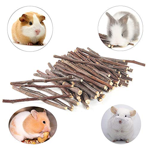 (Niteangel Apple Chew Sticks for Chinchilla, Guinea Pigs, Hamsters, Rabbits, Parrots and Other Small Animals (10.5-oz))