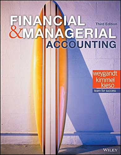 Financial and Managerial Accounting, 3rd Edition