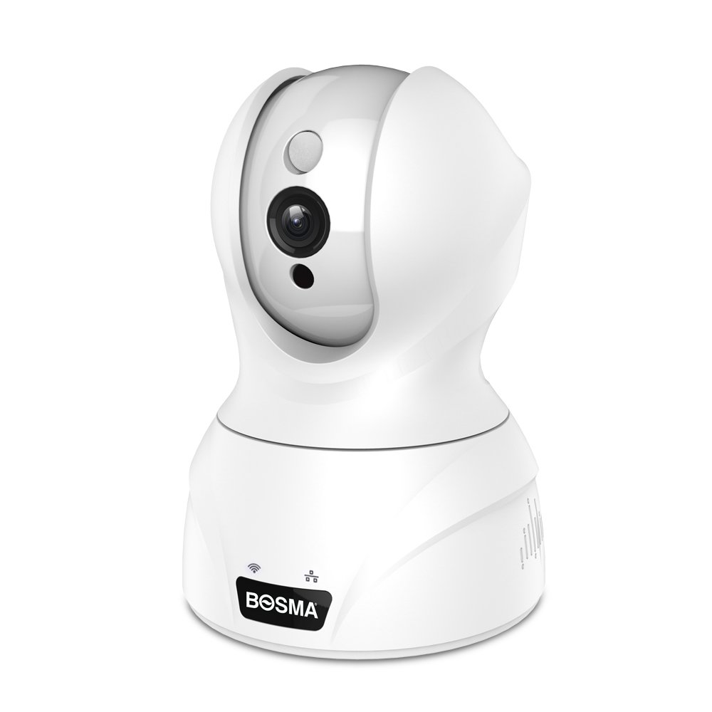 Bosma Dome Camera, 1080p HD Wireless IP Camera, Indoor Pan/Tilt/Zoom Security Surveillance System with Night Vision, Baby Pet Motion Tracking, 2-way Audio WIFI Camera, Compatible with iOS, Android App