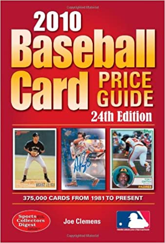 Baseball Card Price Guide 2010 Joe Clemens 9781440213366