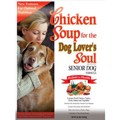 Chicken Soup for the Dog Lover's Soul Dry Dog Food for Senior Dog, Chicken Flavor, 18 Pound Bag, My Pet Supplies