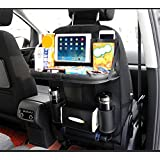 TOCGAMT Car Backseat Organizer with Table Tray for Baby Kids (Black)