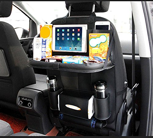 TOCGAMT Car Backseat Organizer with Table Tray for Baby Kids ()