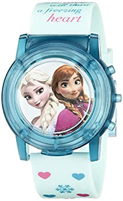 Disney Kids' FZN3821SR Digital Display Analog Quartz Blue Watch by Disney-Roll up