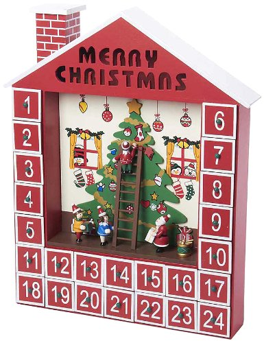 Kurt Adler Wooden Advent Calendar House, 15-Inch by Kurt Adler