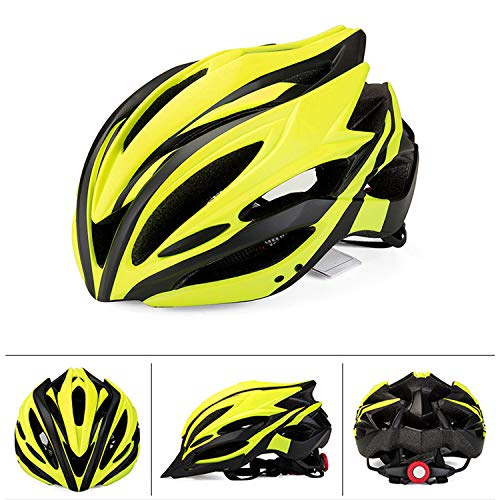 FitTrek Bicycle Helmet with Safety Light, Adjustable Cycle Helmet CE Certified, Lightweight Mountain Road Bike Helmet…