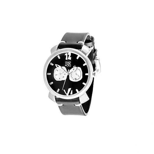"""UNO de 50"""" Espérame REL0134NGRNGR - Reloj de hombre con caja bañada en plata de"""