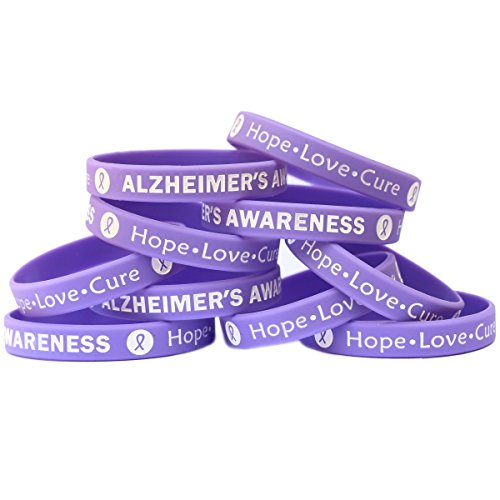 SayitBands 15 Alzheimer's Awareness Wristband Silicone Bracelets