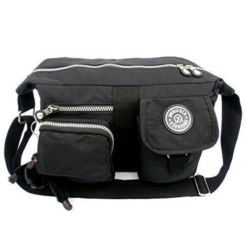 2015 NEW STYLE Women Ladies Girls Fashion Messenger Bag Handbag Crossbody Shoulder Bag Leisure Change Packet (Black))