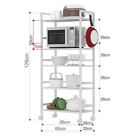 Estante vertical Unidad de cocina de 5 capas Estante de ...