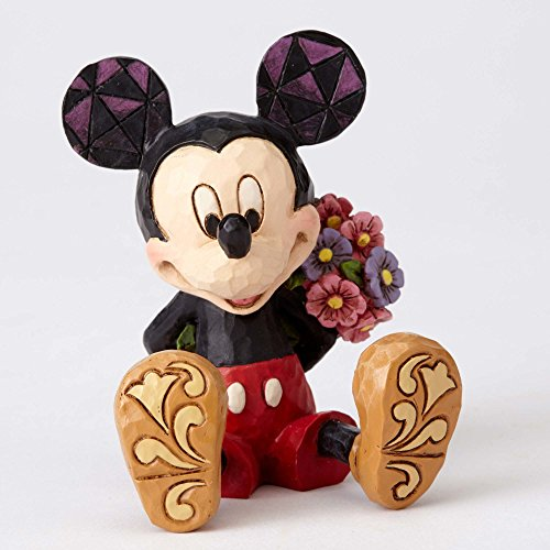 (Disney Traditions by Jim Shore Mini Mickey Mouse Personality Pose Stone Resin Figurine,)