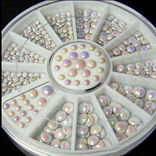 DIY Nail Art Decorations Wheel AB Ellipse Acrylic Crystal Nail Glitter Nail Rhinestones Nail Wheel Nail Tools 034 by DKjiaoso