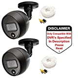Q-See QCA8091B 1080p Analog BNC HD Bullet Security Camera with PIR - 2 Pack