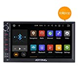JOYING 7 inch Android 5.1 Lolipop Car Stereo Touch Screen Double 2 Din Head Unit Quad Core 1024*600 GPS Car Navigation Radio Receiver Support Bluetooth/Steering wheel control/rear camera/wifi/Subwoofer/1080p
