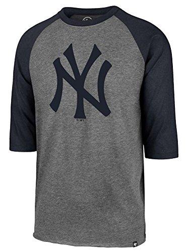- '47 MLB New York Yankees Men's Team Tri-State Raglan Tee, XX-Large, White Wash