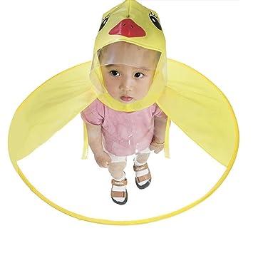 precio especial para nuevo producto adecuado para hombres/mujeres Chubasquero Impermeable para Niños Dibujos Animados de Pato, Poncho para  Lluvia de Diseno Creativo UFO, Color Amarillo, Disponible en 3 Tallas