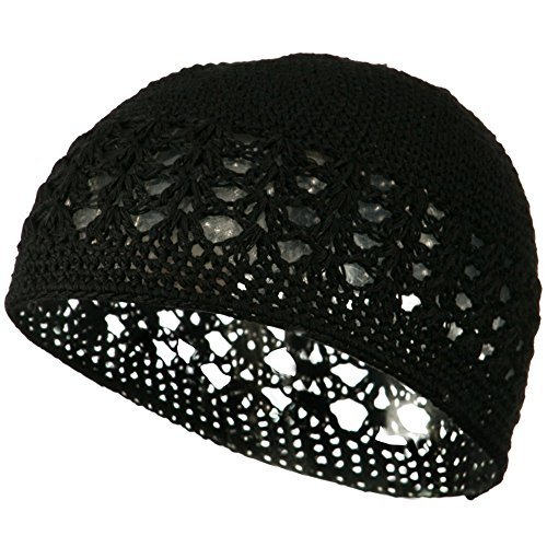 Cotton Kufi Cap - Black OSFM W14S17D