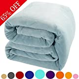 Shilucheng Fleece Soft Warm Fuzzy Plush Lightweight Throw (60-Inch-by-43-Inch) Couch Bed Blanket, Turquoise