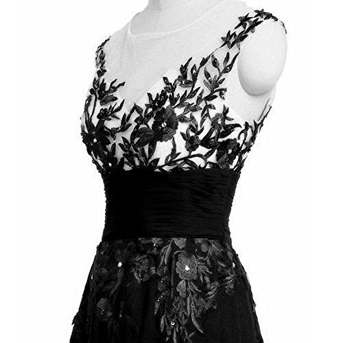 Kleid Young ärmelloses Kleid Dot Polka June's Stil Damen Kleid Schwarz Retro bodenlanges Faltenkleid RO88nqFZ