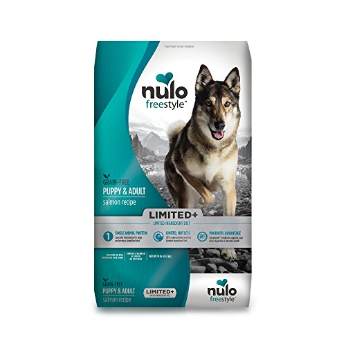 Nulo Puppy & Adult Freestyle Limited Plus Grain Free Dry Dog Food: All Natural Limited Ingredient Diet For Digestive & Immune Health - Allergy Sensitive Non Gmo (Salmon Recipe - 10 Lb Bag) (Best Puppy Food For Allergies)