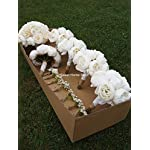 Sweet-Home-Deco-Silk-Rose-Hydrangea-Peonies-Wedding-Bridal-Bouquet-Bridesmaid-Bouquet-Boutonniere-in-Ivory-Burlap-Lace-Wedding-Package-Ivory-Groomsman-Boutonniere