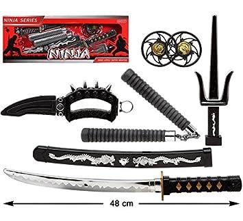 Atosa Kit Ninja: Espada con Funda, Nunchaku, 2 Estrellas ...