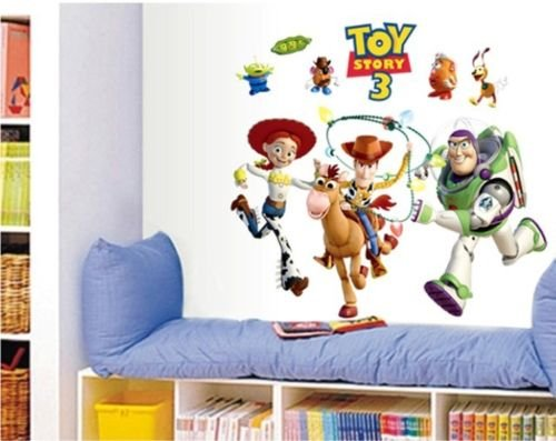 Wall Stickers for Kids Hot Sale Toy Story 3 Cartoon Wall Stickers Removable PVC Art Decals Kids Nursery Room Decor]()