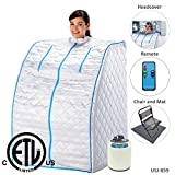U.S. Jaclean Portable Lightweight Personal Steam Home Sauna 6pcs [ETL Certified]