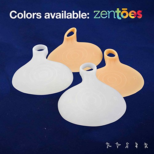 ZenToes 4 Pack Gel Metatarsal Foot Pads Ball of Foot Cushions For 850588007164
