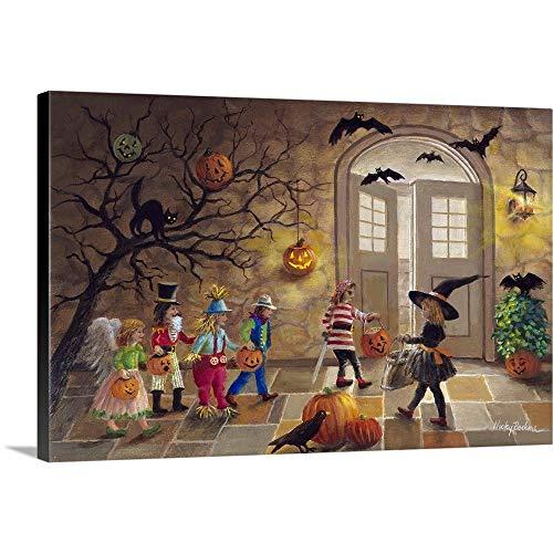 Halloween Fun Canvas Wall Art Print, 36