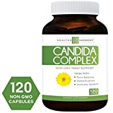 Candida Cleanse (NON-GMO) 120 Capsules: Double the Competition - Powerful Yeast Infection Treatment with Caprylic Acid, Oregano Oil & Probiotics to Clear Candida while Preventing Reoccurrence