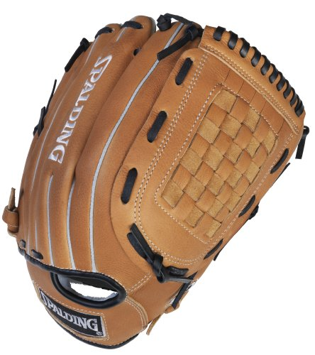 Spalding Stadium Series Checkmate Web 13-inch Softball Glove - Right-Handed Thrower (42-085) by Spalding