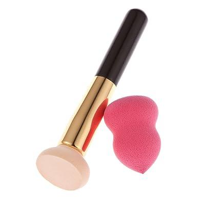 1pcs Cepillo Eléctrico Rosa + 1pcs Esponja De Color Rosa Puff + 1pcs Lienzo Conjunto Bolsa De Maquillaje - Lumière Blanc Chaud , # 2