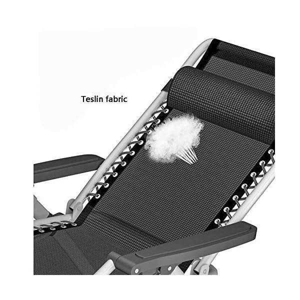 MXueei Poltrone reclinabili, Sedia a Sdraio da Esterno con Patio a Chiusura Zero a gravità, Poltrona reclinabile… 7 spesavip