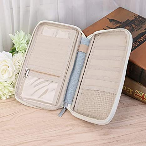 Amazon.com: Travel Bag Wallet Purse Document Organizer Zipped Passport Tickets ID Holder Accessories: Kitchen & Dining