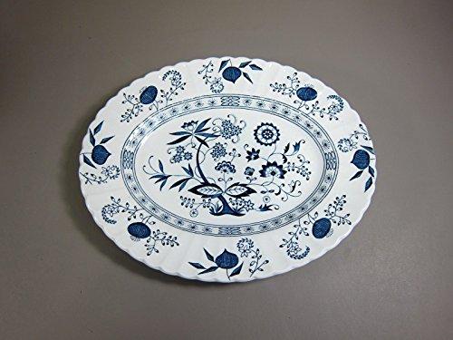 """Meakin J&G BLUE NORDIC 13"""" Oval Serving Platter EXCELLENT"""