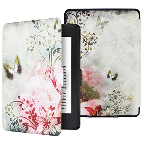 Aimerday Case for Kindle Paperwhite - Premium PU Leather Magnetic Cover Auto Wake/Sleep for All-new Amazon Kindle Paperwhite(Fits All 2012, 2013, 2015 and 2016 Versions 300 PPI) Vintage